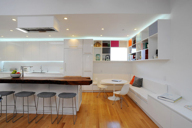 Modern White Kitchens With Wood see how wood warms modern white kitchens
