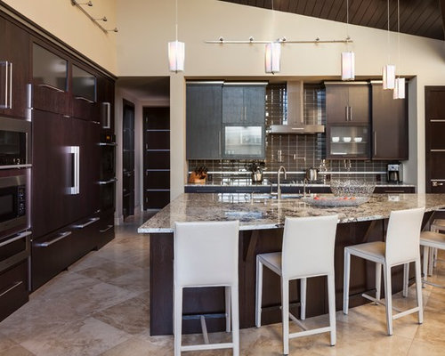 Modern Kitchen Ideas   Minimalist Kitchen Photo In Denver With Granite  Countertops