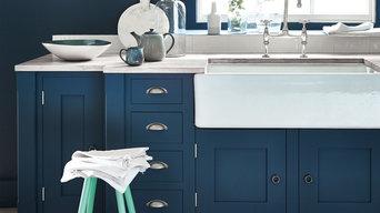 Modern Kitchen In Deep Blue Shades