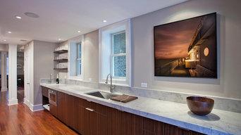 Modern Kitchen in NW DC - Sink Wall