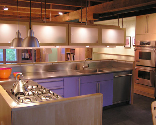 Purple Kitchen Cabinets Home Design Ideas, Pictures, Remodel and Decor