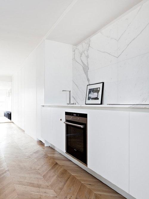 Cuisine moderne avec un plan de travail en marbre : Photos et idées ...