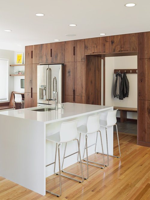 Modern Walnut Kitchen Cabinets | Houzz