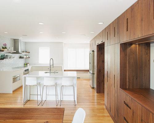 Kitchen Walnut Cabinet Home Design Ideas, Pictures ...