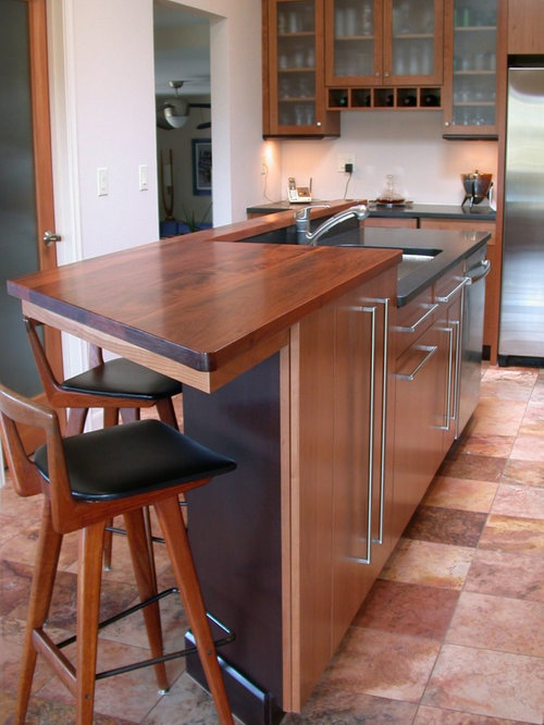 Kitchen counter height stools houzz for Kitchen island height