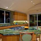 Mermaid Green Granite Kitchen Counter Modern Kitchen