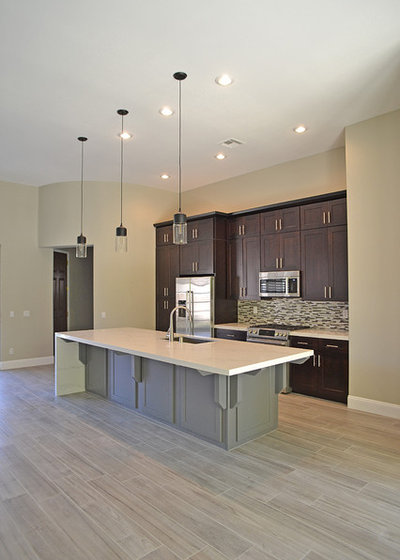 Transitional Kitchen by AFR Construction