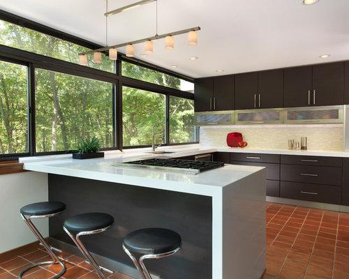 k chen mit terrakottaboden ideen bilder. Black Bedroom Furniture Sets. Home Design Ideas