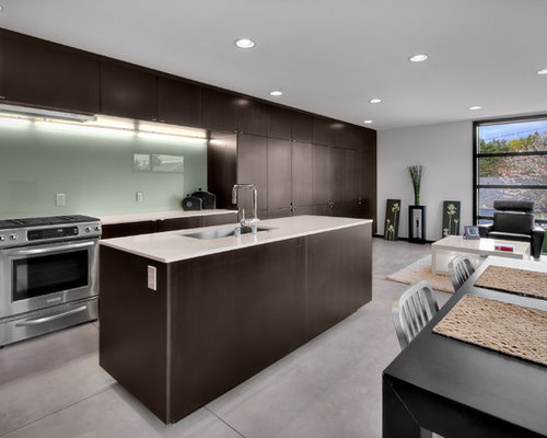 Inspiration For A Modern Open Concept Kitchen Remodel In Seattle With Stainless Steel Appliances A