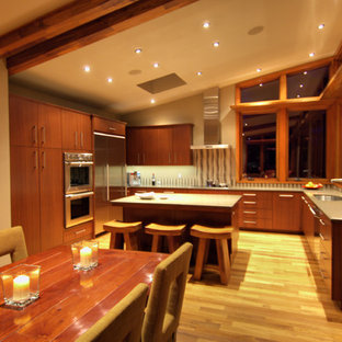 Modern kitchen designs - Example of a minimalist kitchen design in Portland