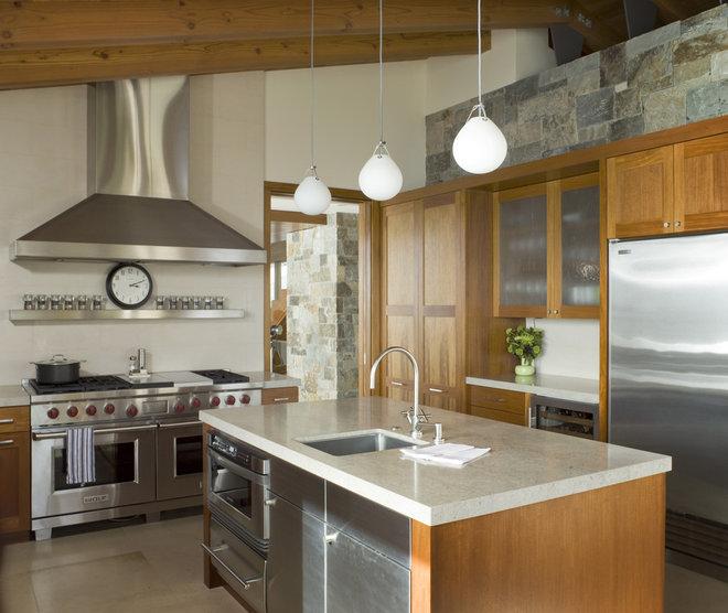 Rustic Kitchen by Sutton Suzuki Architects