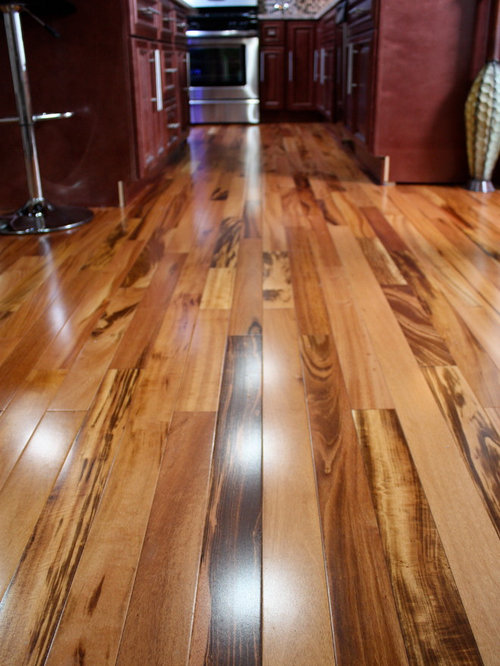 Exotic Brazilian Tigerwood Koa/ Prefinished - Hardwood Flooring - Brazilian Tigerwood Koa