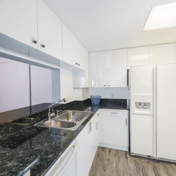 Modern Kitchen Update Done In a Level Acrylic White Door