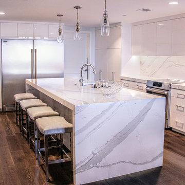 Modern Kitchen Update Done in Acrylic White