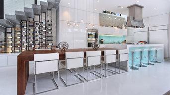 Modern Kitchen Wine Storage