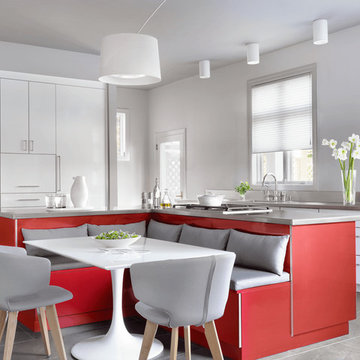 Modern Kitchen with a Pop of Color