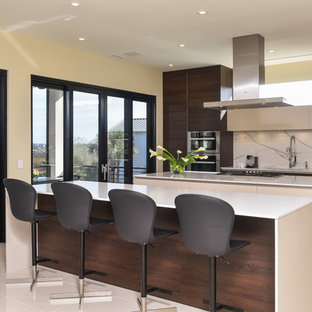 Modern Kitchen with Double Island