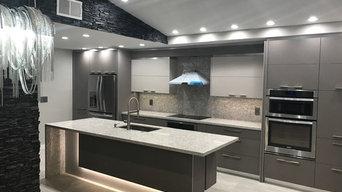 Modern Kitchen with LED Island by VelArt