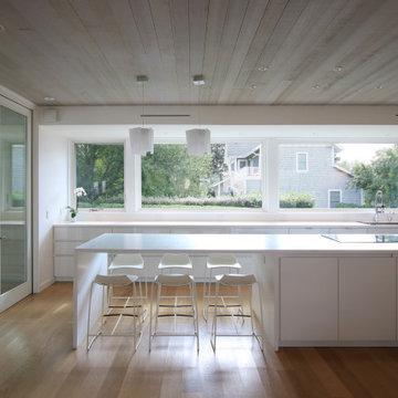 Modern Kitchen with Oversized Island