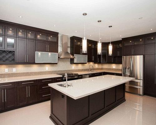 cuisine moderne avec un sol en carrelage de c ramique photos et id es d co de cuisines