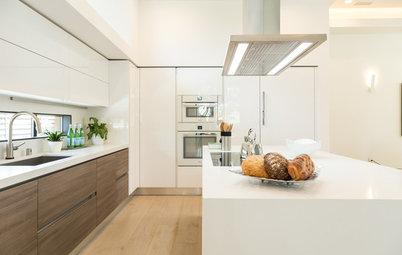 Cómo usar los revestimientos para integrar la cocina y el salón
