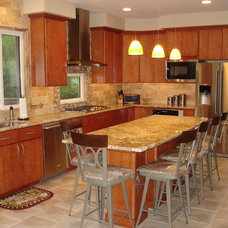 Contemporary Kitchen by StoneMar Natural Stone Company LLC