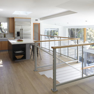 Contemporary kitchen photos - Example of a trendy kitchen design in San Francisco with stainless steel appliances