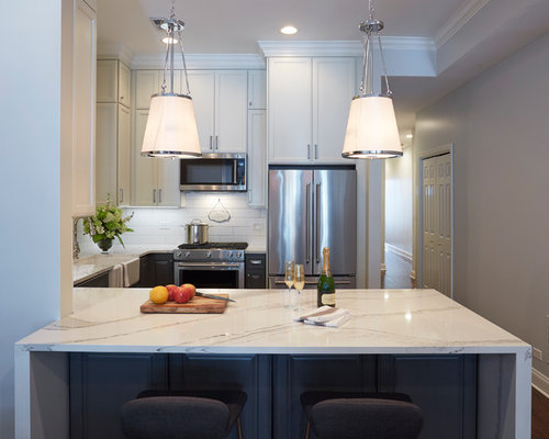 Modern Lincoln Park Farmhouse Kitchen Chicago IL