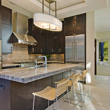 Transitional Kitchen by Laura Hay DECOR & DESIGN Inc.