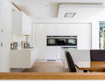 Modern Minimal White Kitchen