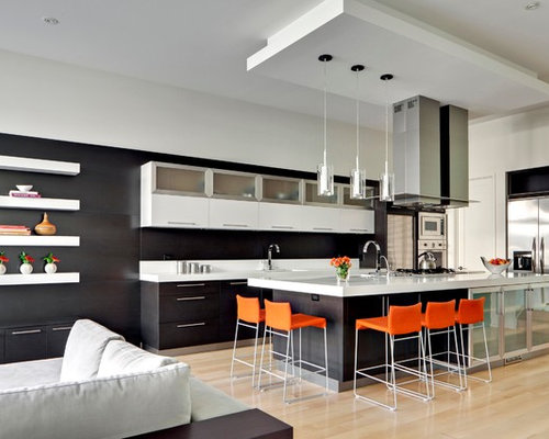 Glass kitchen cabinets home design ideas renovations amp photos