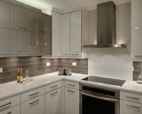 White Acrylic Cabinets Home Design Ideas, Pictures, Remodel and Decor