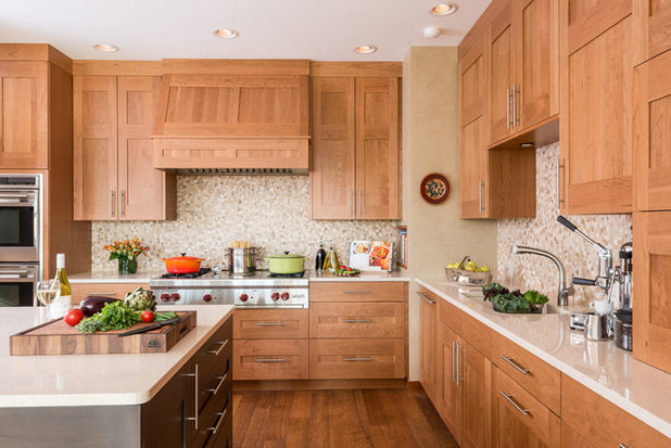 Transitional Kitchen by Wagner Cabinetry and Design