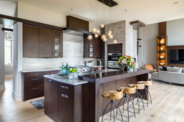 Contemporary Kitchen by Hendel Homes
