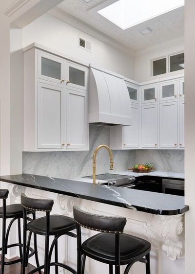 Transitional Kitchen by Brad Ramsey Interiors