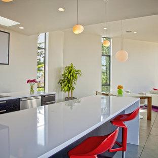 Minimalist open concept kitchen photo in Seattle