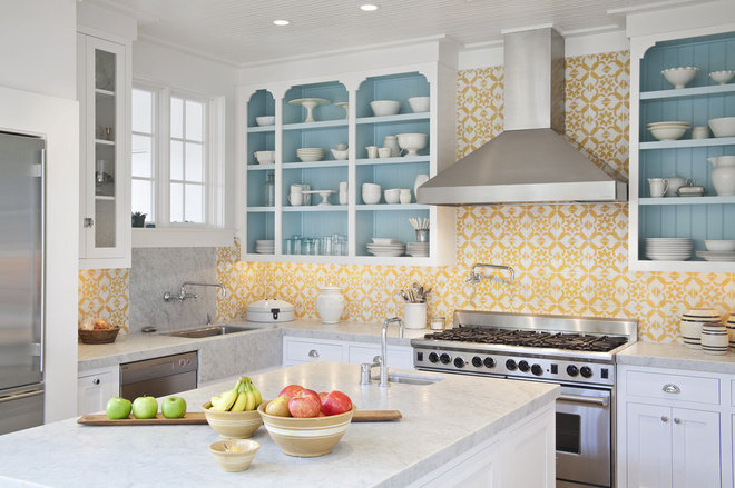 Transitional Kitchen by Jessica Glynn Photography