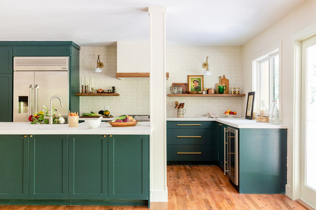 Transitional Kitchen by Folkway Design & Wares Co.