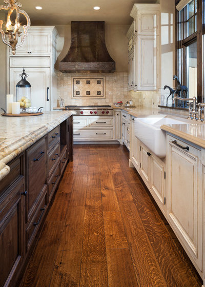 Rustic Kitchen by Kyle Hunt & Partners, Incorporated