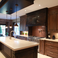 Rustic Kitchen by Heritage Finishes Fine Custom Cabinetry