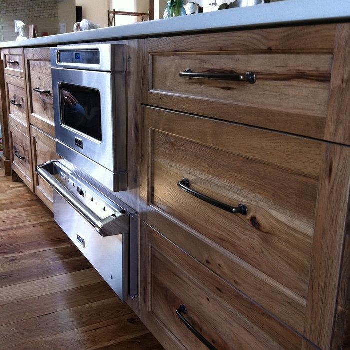 Mountain style kitchen photo in Detroit