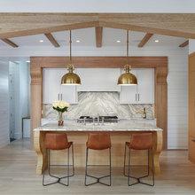 Wood-and-White Kitchen Blends Historical and Contemporary Design