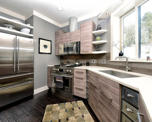 Above Fridge Cabinet Home Design Ideas, Pictures, Remodel and Decor