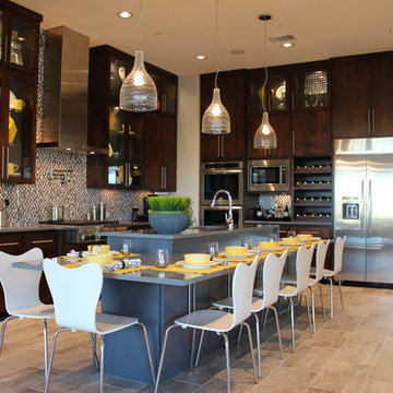 Modern Slab Flat Panel Cabinet Door Kitchen by Burrows Cabinets
