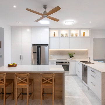 Modern Sophistication in Sandgate Kitchen and Laundry