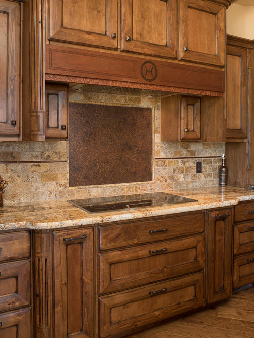 Southwestern kitchen with beaded inset cabinets design for Beaded inset kitchen cabinets