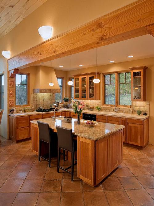 Southwest kitchen houzz for Albuquerque kitchen cabinets
