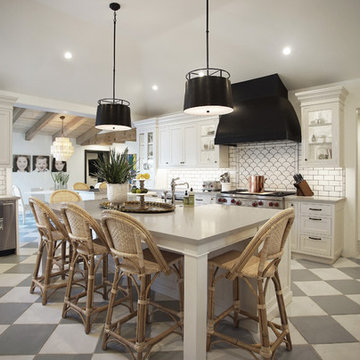 Modern Spanish Estate - Kitchen www.hryanstudio.com