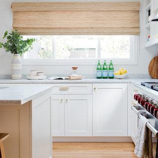 Modern kitchen remodeling - Minimalist kitchen photo in Los Angeles