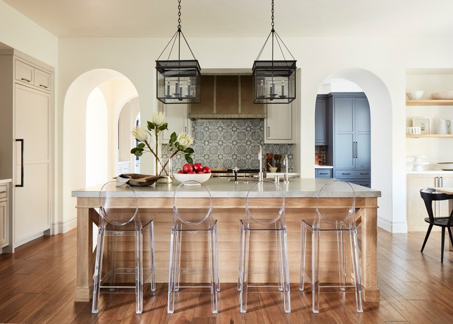 Transitional Kitchen by Amanda Teal Design